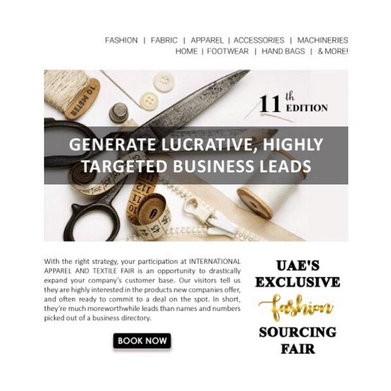 International Apparel & Textile Fair (04 to 06 Nov 2019),Dubai,