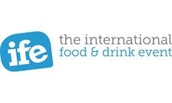 IFE)The International Food & Drink Event) logo ilikevents