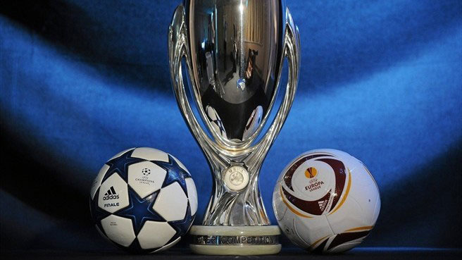 The UEFA Super Cup Trophy